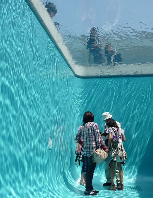 Swimming Pool Art : Underwater pool by leandro erlich installation art