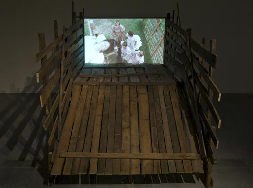 Mika Rottenberg Exhibition view at La Maison Rouge, Paris, 2009